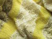 Bright yellow fabric — Stock Photo