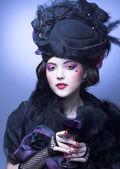 Vintage lady. — Stock Photo