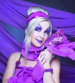 Girl in violet — Stock fotografie