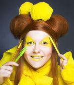 Sarı kız. — Stok fotoğraf