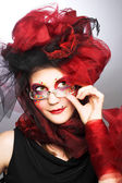 Yound lady in glasses — Stockfoto