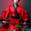 Girl in japanise style — Stock Photo #46298977