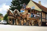 Old horse tram in Svaneke, Bornholm — Stock Photo