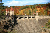 Picturesque autumn. Dam Les Kralovstvi in Bila Tremesna, Czech Republic — Stock Photo