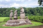 Monument Grandma with children, — Stock Photo