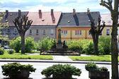 Town square Cerveny  Kostelec, Czech Republic — Stock Photo
