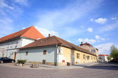 Old castle administrative buildings in Litomysl, Czech Republic — Foto de Stock