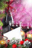 Tarjeta de navidad y año nuevo — Foto de Stock