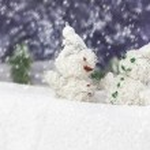 Pair of happy snowmen — Stock Photo