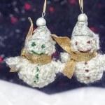 Pair of happy snowmen — Stock Photo #18095809