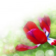 Art abstract background with spring floral motive — Stock Photo
