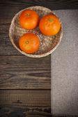 Art vintage background orange board table wood wodden — Stock Photo