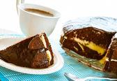 Brownie dort dezert kakaa sladký šálek — Stock fotografie