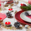 Stock Photo: Christmas xmas eve table setting supper
