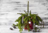 Christmas tree spruce green wooden — Stock fotografie