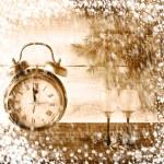 New Year Christmas xmas clock — Stock Photo