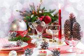 Noel noel arifesi tablo ayarı — Stok fotoğraf