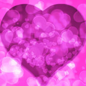 Pink background blurred lights heart — Photo