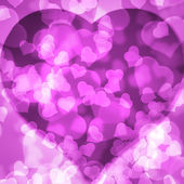Pink background blurred lights heart — Stock Photo