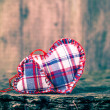 Two hearts wooden board — Stock Photo #39497929
