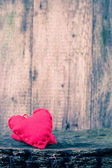 Two hearts wooden board — Stock Photo