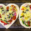 Two raw fresh pizzas prepared roasting — Stock Photo #40143241