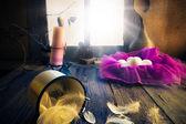 Vintage easter decoration eggs candle — Стоковое фото
