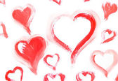 Collection painting hearts white background — Stockfoto