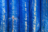 The wall wooden planks painted blue — Stock Photo
