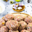 Stock Photo: Closeup meatballs prepared roll breadcrumbs