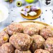 Closeup meatballs prepared roll breadcrumbs — Stock Photo #41210405