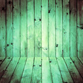 Interior room wooden walls floors — Stock Photo