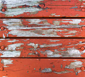 Wood paneling old cracked paint — Stock Photo