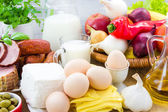 Set different foods healthy diet — Stock Photo