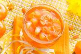 Lecker marmelade orange glas — Stockfoto