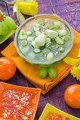 вкусные фрукты желе кусочки винограда — Стоковое фото