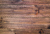 Wall wooden planks painted brown — Stock Photo