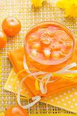 Fruta deliciosa gelatina cristal naranja — Foto de Stock