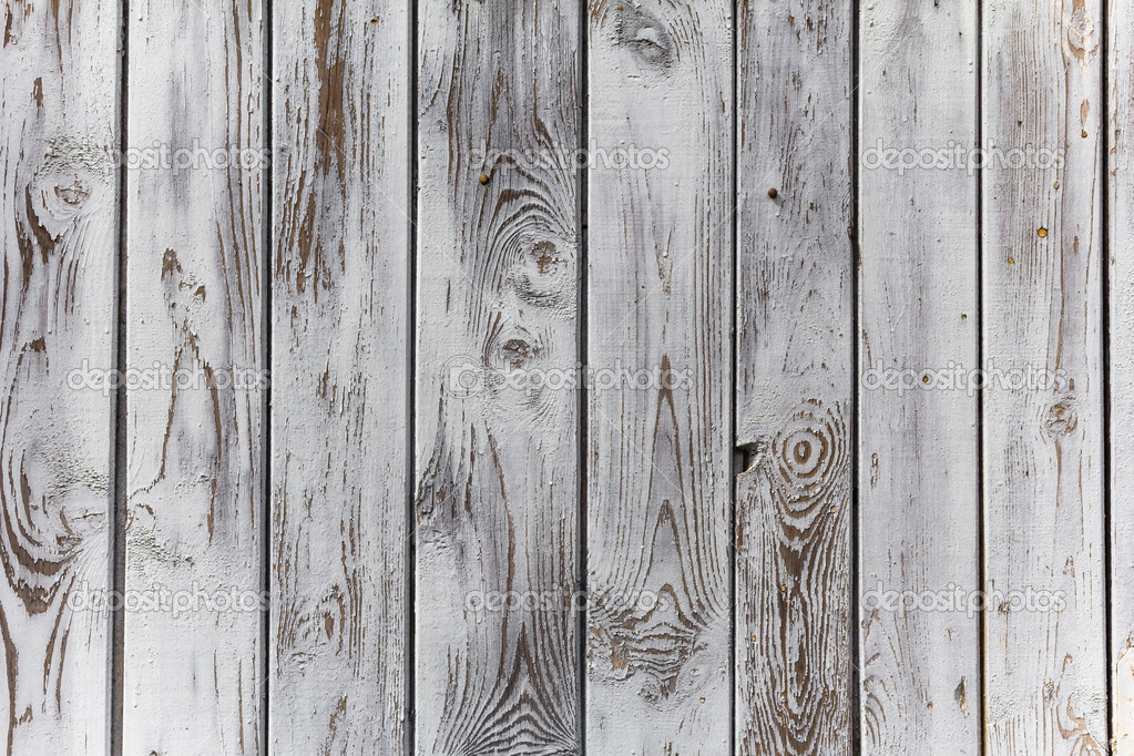 Scarica - La parete di assi di legno dipinte di bianco — Immagini ...