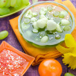 Tasty fruit jelly pieces grapes — Stock Photo #48469377