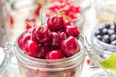 Top view summer fruits prepared Preserving — Stock Photo