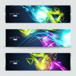 Set of banners and abstract headers with shadows — Stock Vector