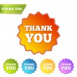 Vector de stock : Thank you