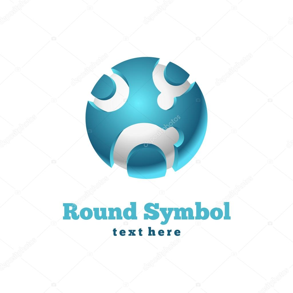 Round icon. Abstract symbol. Vector business sign. — Stock Vector #12097376