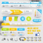 Elementy sieci web — Wektor stockowy