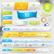 Vector Web Elements, Buttons and Labels — Vector de stock #12766934