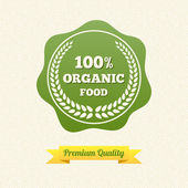 Vector Organic Food Label — Stock Vector