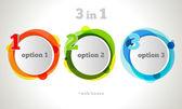 ベクトル グラフィック デザイン ボタンとラベル テンプレート — ストックベクタ
