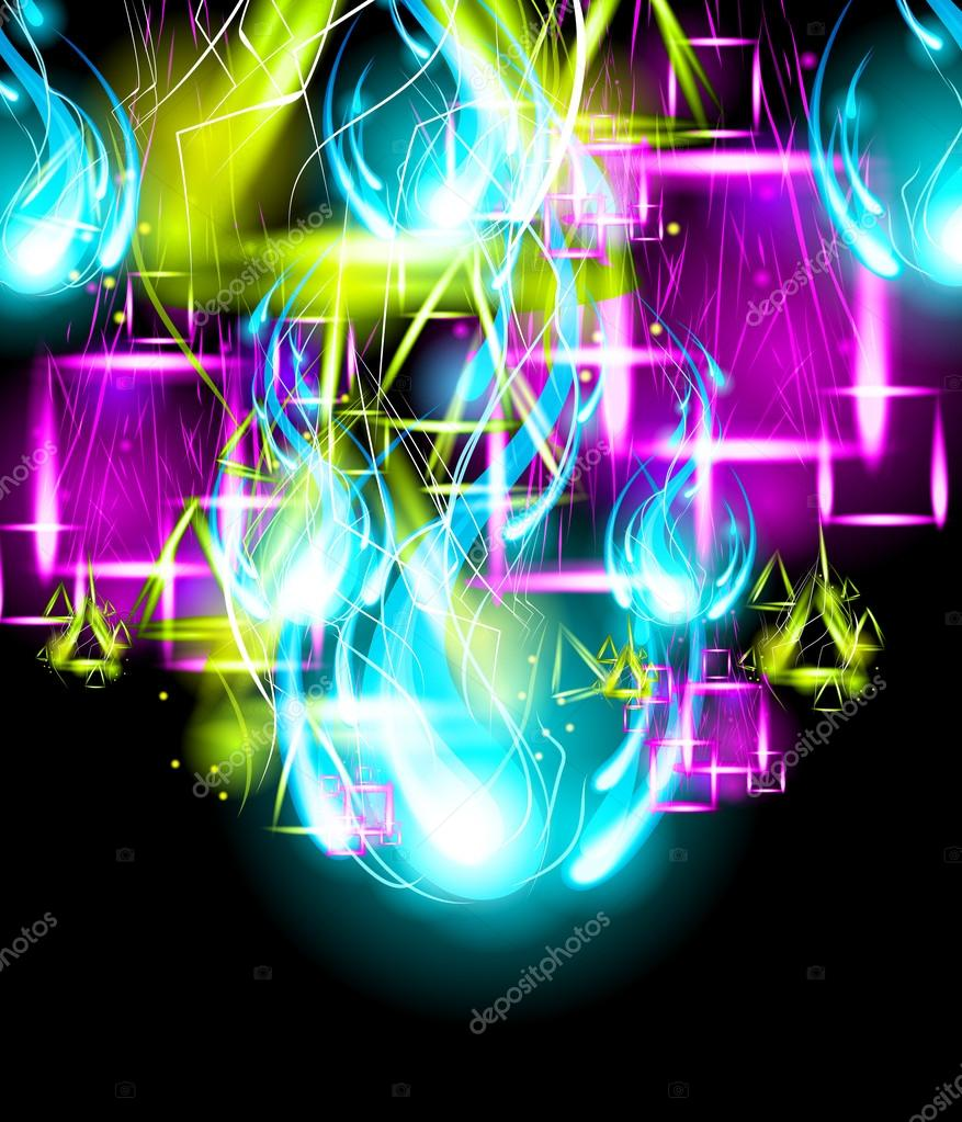 Vector Graffiti Paint Art Background. Light Effect Background. — Stock Vector #12766944