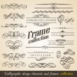 图库矢量图片: Calligraphic Design Elements and Frames